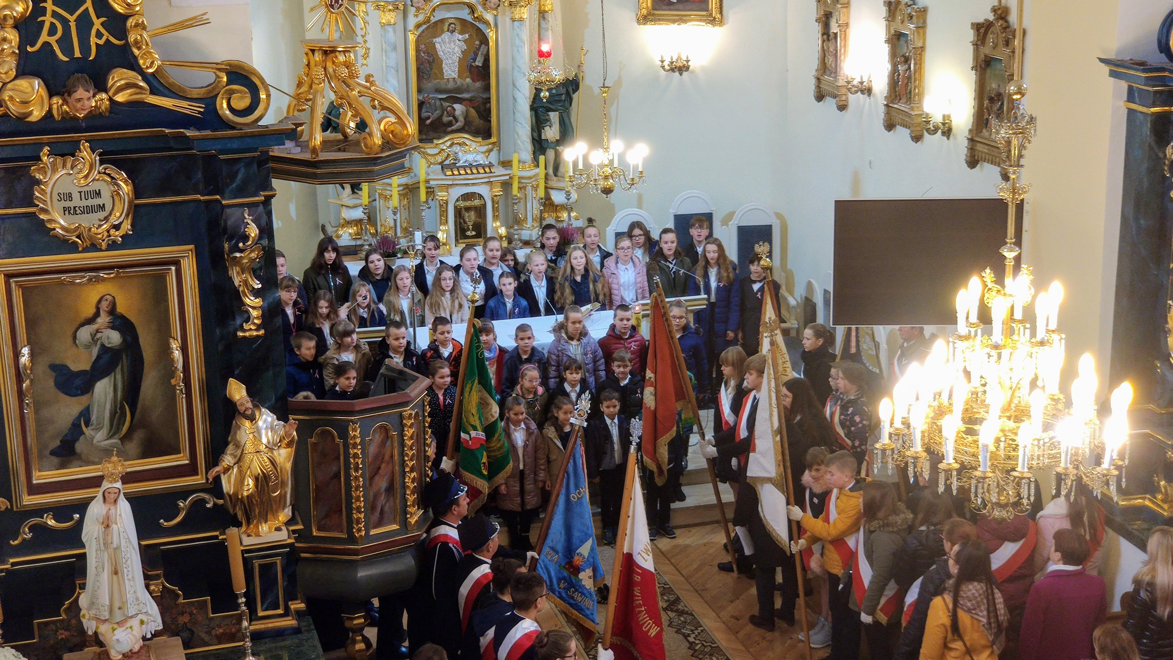 Święto Niepodległości – akademia w kościele (piosenki)