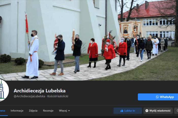"""Procesja rezurekcyjna z Sawina """"tłem Archidiecezji"""""""